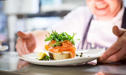 The Budock Vean Hotel's superb restaurant offers an excellent and varied cuisine, using local produce.