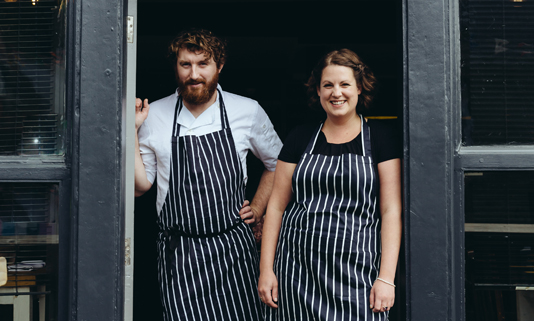 No. 4 Peterville pride themselves on using locally-sourced seasonal produce to design their small and carefully thought out menu.