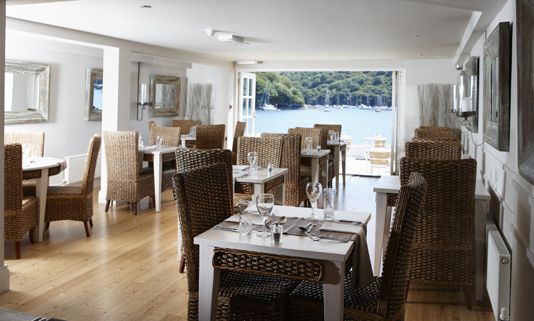 Located on the water's edge in the chic Cornish town of Fowey.