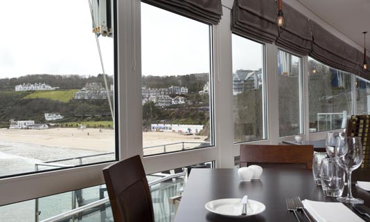 Pedn Olva offers unrivalled views of the sun-kissed beach of Porthminster and the coastline to Godrevy Lighthouse.