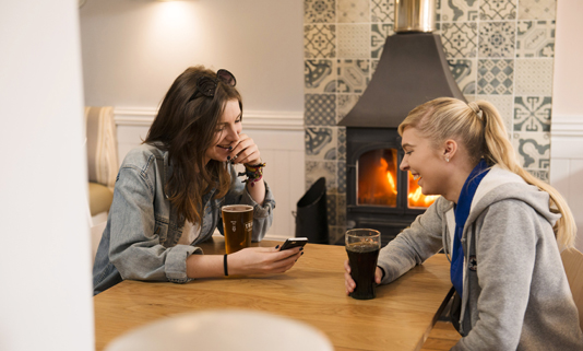 The Rashleigh Arms has had a wonderful refurbishment and now has a cosy fireside, a contemporary and inviting new look.
